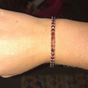 Swarovski red crystal jewel bracelet